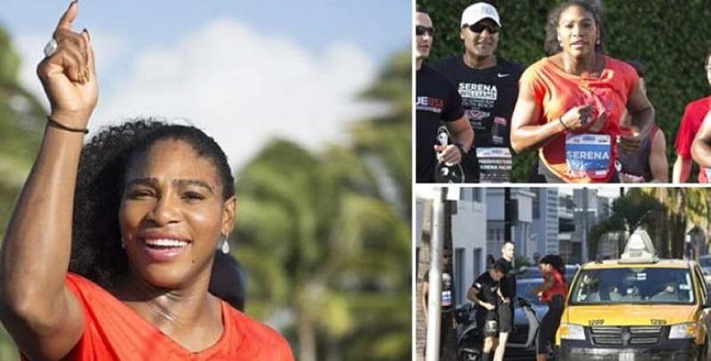 Ikut Lomba Lari, Atlet Tenis Dunia Serena Williams Naik Taksi
